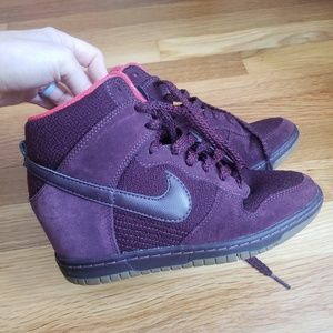 Nike Dunk Sky Hi Size 5 Wedge Heel